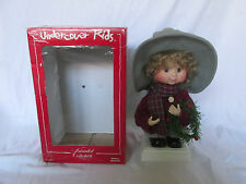 Animated Collectible Undercover Kids Doll Christmas Little Boy & Wreath in Box