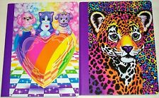 2 Lot Lisa Frank Wide Ruled Composition Book Puppy Love Hunter Leopard 100 pages