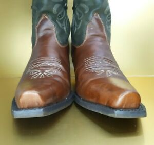 Ariat Women's Boots 9.5 B Brown Green Pointed Toe Medium Wide