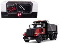 FIRST GEAR 50-3407 PETERBILT 367 DUMP TRUCK  1/50 BLACK/RED