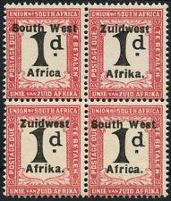 Mint Hinged Pre-Decimal British Blocks Stamps
