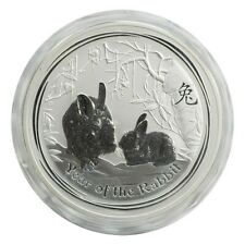 2011 1 Kilo 1KG Silver Australian Lunar Rabbit in Capsule
