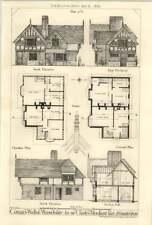 1875 Cottages At Walton Warwickshire For Sir Charles Mordaunt