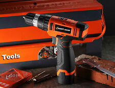 LOMVUM 12V Lithium-Ion Cordless Driver-Drill Kit 18 speed shift Screwdriver
