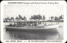 Clearwater FL Luxury Fishing Boat Sea Hawk Postcard