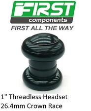 """First 1"""" Bicycle Threadless Headset Sealed Bearing BLACK 26.4mm Crown Race 3025"""