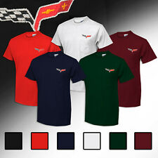 2005-2013 C6 Corvette Crew Neck Pocket T-Shirt w/ C6 Embroidered Logo 619978