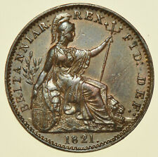 More details for 1821 george iv farthing, british coin ef