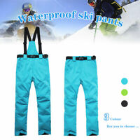 Men Women Thicken Ski Pants Waterproof Snow Trousers Snowboard Clothing Outdoor