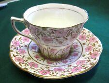 Lot 5 Vintage ROSINA Bone China Pink Rose Chintz Tea Cup & Saucer. No. 4965