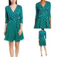 £479 Iconic DVF Wrap Dress, Diane Von Furstenberg Dress, Midi Wrap Dress, 12 UK
