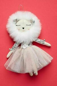 Anthropologie Alice Mary Lynch Snow Queen Lioness Ornament Christmas Holiday NWT