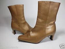 Abendschuhe Stiefelette GABOR Stiefel 5 38 Metallic Leder Echtleder gold /Z96