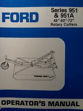Ford 951 951a 48 60 72 3 Point Rotary Mower Owner Parts Ampservice Manual Tractor