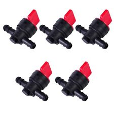 """(5) 1/4"""" Straight In-Line Gas Fuel Shut-off / Cut-off Valves Petcock Motorcycle"""