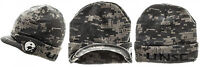 New HALO 5 UNSC DIGITAL CAMO CUFF VISOR BILLED BEANIE KNIT HAT CAP CAMOUFLAGE