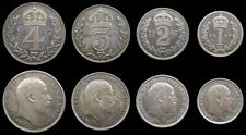 More details for edward vii 1907 full maundy set - fourpence, threepence, twopence, penny