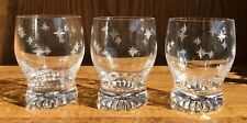 3 Stuart Crystal 'Star time' Scotch Whiskey Glasses