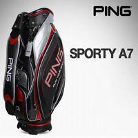 [PING] Sporty A7 Sports Golf Caddy Bag Black Color Tour Carry Cart Caddie v_e