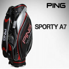 [PING] Sporty A7 Sports Golf Caddy Bag Black Color Tour Carry Cart Caddie v_e