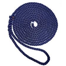 "New England Ropes 3/8"" X 25' Premium Nylon 3 Strand Dock Line Navy Blue C6053..."