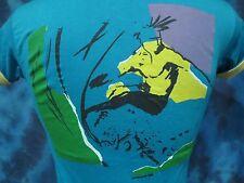 vintage 80s OP OCEAN PACIFIC SURF T-Shirt XXS/XS beach skate neon sun soft thin