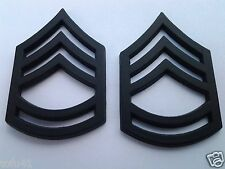 1 PAIR (2) ARMY RANK E7 SGT 1ST CLASS Military Veteran Hat/Collar Pins P12754 EE
