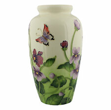 Old Tupton Ware Primrose & Butterfly Design Large Vase 28cm