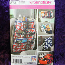 Simplicity 3731 5 Car Travel Organizers Useful Multi-pockets Pattern New Uncut