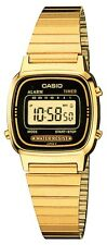 Casio Ladies Digital Goldtone Watch, Chronograph. Alarm,  LA670WGA-1