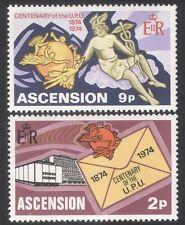 Ascension 1974 UPU/Universal Postal Union/Communication/Statue 2v set (n39635)