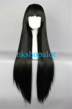 Cosplay Wig 80cm Long Straight Kikyou Kikyo Inuyasha Costume Party Hair for girl