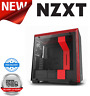 NZXT H700 Matte Black/Red Mid Tower Case Tempered Glass Window
