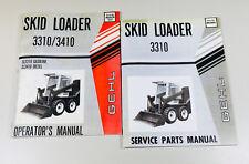 Gehl Hl 3310 Skid Loader Skid Steer Owner Operators Service Parts Manual Set