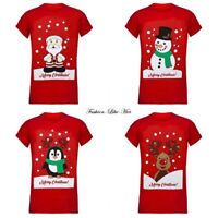 Mens Xmas T Shirt Christmas Womens Unisex Santa Reindeer Snowman Novelty Tee Top