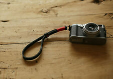 RED top 10mm black Thickened leather Handmade camera wrist strap | Windmup