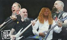 Hetfield Mustaine Ian King - Hand OIL PAINTING canvas signed POP ART Guitar Rock