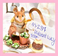 ❤️Wee Forest Folk M-237 Patient Lucy Retired Yellow Dress Gardener Mouse WFF❤️