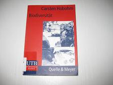 Biodiversität von Carsten Hobohm (2000)