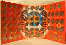 COMPLETE SET of USSR Commemorative Roubles w/ Book Soviet Russia Rubles 68 COINS