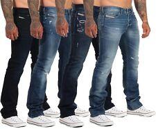 Diesel Herren Jeans Safado R Regular Hose Slim Straight Stretch Used-Look