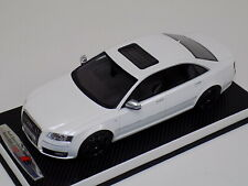 1/18 Otto Mobile GT Spirit Audi S8 D3  White Black Wheels OT699 leather base