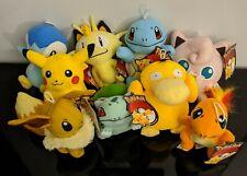 "Pokemon Pikachu Bulbasaur Charmander Squirtle Plush Stuffed Animal 6"" Toy New"
