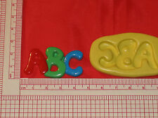 Abc Letters School Silicone Mold Fondant Cupcake Clay Candy A779 Chocolate
