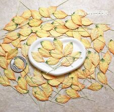 50 Mini Leaves 3 Tone Leaf Scrapbook Craft Mulberry Paper Floral Wedding Card