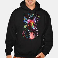 New German Shepherd Black Hoodie Sweatshirt S-5Xl neon dog pitbull lover animal