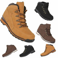 MENS CASUAL WALKING HIKING DESERT LACE UP ANKLE WORK BOOTS BASIC TRAINERS SHOES