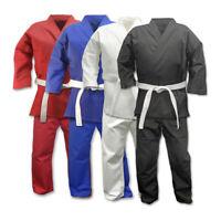 Student Kumite Karate uniform7.5oz Gi  WH/BK/RED/BLUE,Kids/Adult no logo