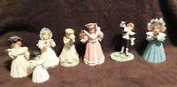 Vintage Set of 7 Maud Humphrey Bogart Figurines Hand Painted Boy Girl Heirloom