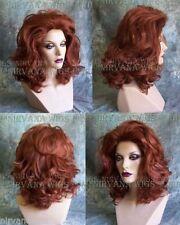 Auburn Red or Burgundy Red Lots of Volume Medium Length Drag Queen? Womens Wig